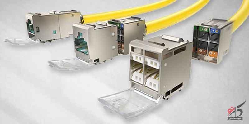 انواع کیستون شبکه,ترانک,نصب کیستون در شبکهی روکار,